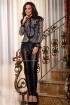 Pantaloni dama negri din piele ecologica